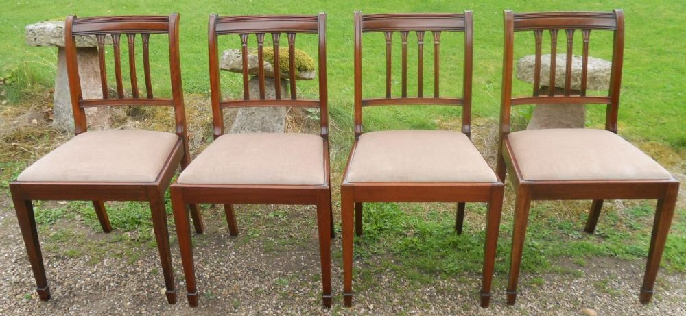 Set of Four Mahogany Period Style Dining Chairs